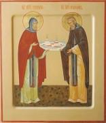 Рукописная икона Кассиан и Григорий Авнежские