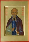 Рукописная икона Леонтий Михайловский
