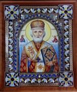 Икона из финифти Николай Чудотворец