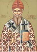 Рукописная икона Мартин папа Римский