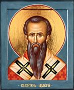 Рукописная икона Мелетий Антиохийский