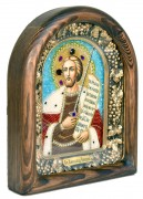 Икона из бисера Александр Невский 5