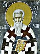Рукописная икона Мефодий Патарский