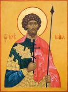 Рукописная икона Мина Александрийский
