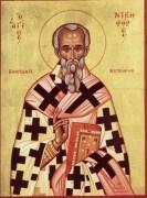 Рукописная икона Никифор Цареградский