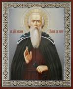 Рукописная икона Никола Святоша Печерский