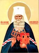 Рукописная икона Николай Алма-Атинский Могилевский
