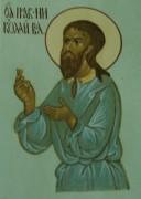 Рукописная икона Николай Вологодский