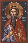 Рукописная икона Освин Нортумберийский