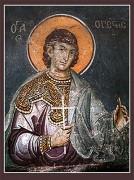 Рукописная икона Орест Тианский Каппадокийский