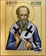Рукописная икона Павел Неокесарийский