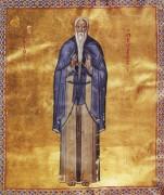 Рукописная икона Петр Галатийский Молчальник