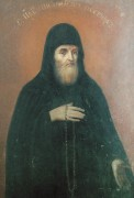Рукописная икона Пимен Печерский Постник