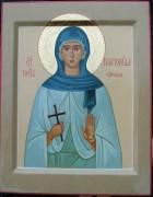 Рукописная икона Платонида Сирская