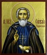 Рукописная икона преподобного Сергия Радонежского