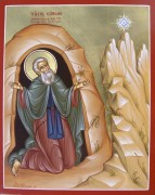 Рукописная икона Симон Мироточивый