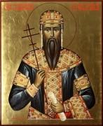 Рукописная икона Стефан Дечанский