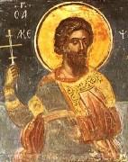 Рукописная икона Святой Акепский