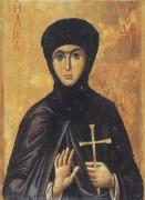 Рукописная икона Феодосия Константинопольская