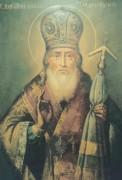 Рукописная икона Феофил Печерский Новгородский
