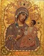 Рукописная икона Аксайской Божией Матери