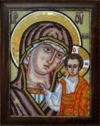 Икона из мозаики Казанская в багете