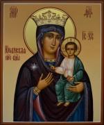 Рукописная икона Юровичская Милосердная