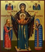 Рукописная икона Божией Матери Мирожская