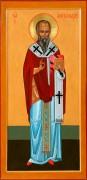 Рукописная икона Святой Александр Константинопольский