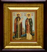 Рукописная икона Петра и Февронии