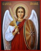 Рукописная икона Архангел Михаил под старину