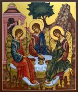 Рукописная икона Святая Троица золочение