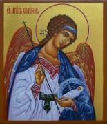 Рукописная икона Ангел-Хранитель с Душой Человека