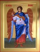 Рукописная икона Архангел Михаил