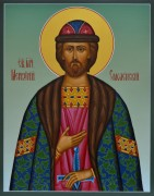 Рукописная икона Меркурий Смоленский