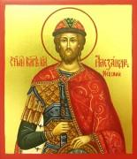 Рукописная икона Александр Невский маленькая