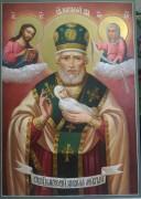 Рукописная икона Никола Мокрый