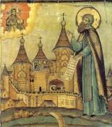 Рукописная икона Святой Александр Ошевенский