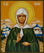 Рукописная икона Блаженная Матрона