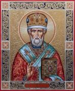 Рукописная икона Николай Чудотворец 2