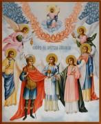 Рукописная икона Собор Архистратига Михаила
