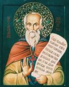 Рукописная икона Святой Александр Свирский