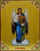Рукописная икона Ангел Хранитель с иконой Благовещение