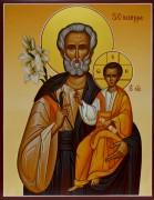 Рукописная икона Иосиф Обручник 2
