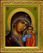 Казанская икона Богородицы с ковчегом и резьбой