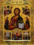 Рукописная икона Спас (Деисус) с клеймами
