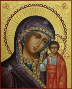 Рукописная Казанская икона Божией Матери 5