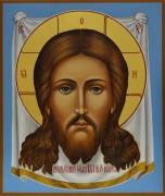 Рукописная икона Спас Нерукотворный 2