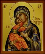 Рукописная икона Владимирская 2