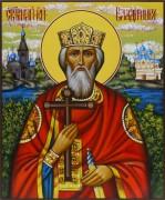 Рукописная икона князь Владимир живопись